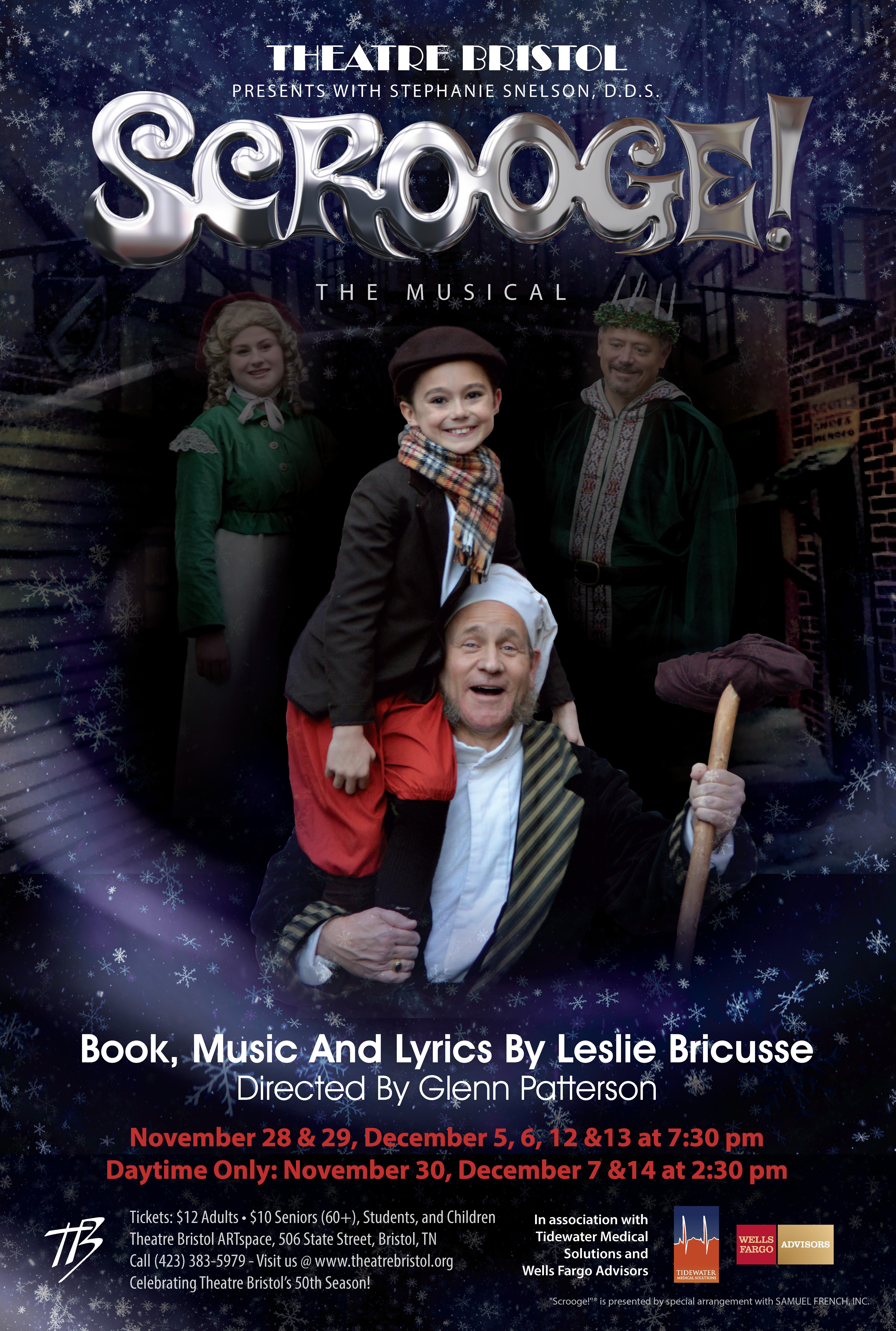 Theatre Bristol's Scrooge! The Musical 2014. Opens Nov 28