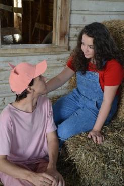 Theatre Bristol Charlotte's Web 2015 Ben Fitton as Wilbur and Emma Kennedy as Fern - 1