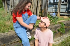 Theatre Bristol Charlotte's Web 2015 Ben Fitton as Wilbur and Emma Kennedy as Fern - 2