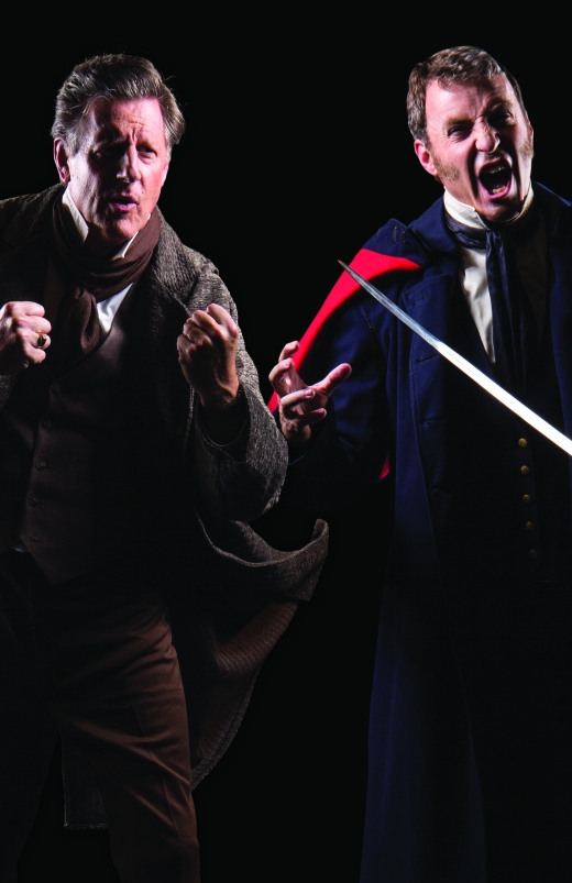 Theatre Bristol's 2015 Les Misérables: Bob Cantler as Jean Valjean and Tim Reynolds as Javert - June 18-28, Paramount Center for the Arts