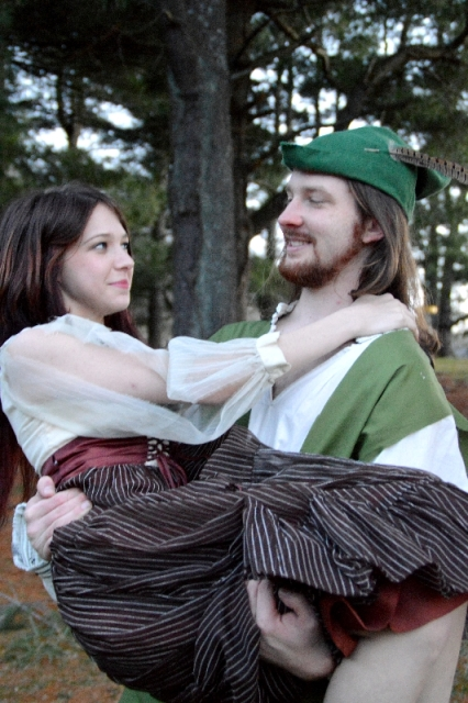 "Theatre Bristol ""The Adventures of Robin Hood"" Stephanie Marie as Lady Marian and Joey Collard as Robin Hood"