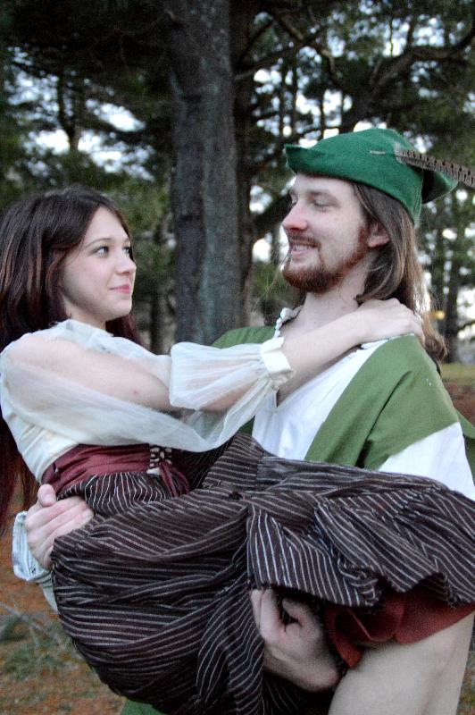 "Theatre Bristol ""The Adventures of Robin Hood"" Stephanie Marie as Lady Marian and Joey Collard as Robin Hood"