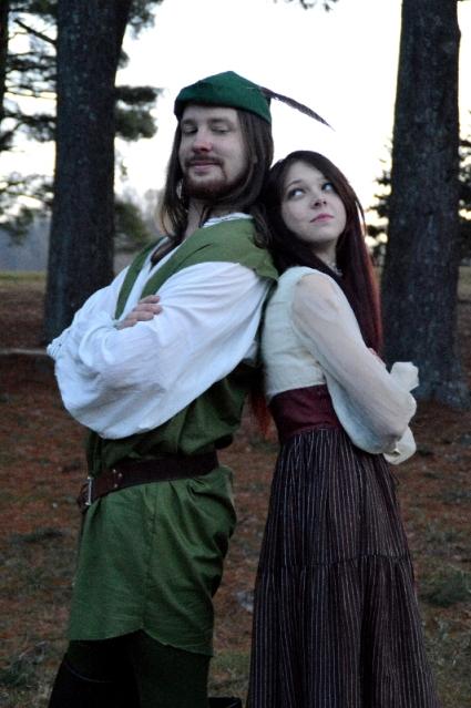 "Theatre Bristol ""The Adventures of Robin Hood"" Joey Collard as Robin Hood and Stephanie Marie as Lady Marian"