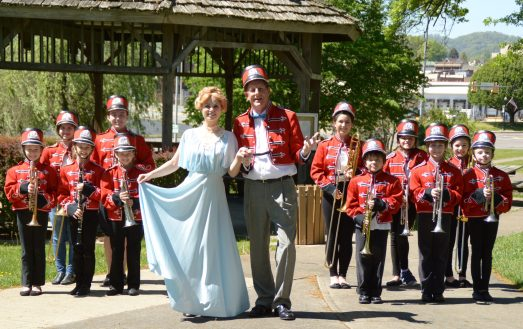 Theatre Bristol's The Music Man - The River City Band, Kylie Green as Marian Paroo, and Bob Cantler as Harold Hill