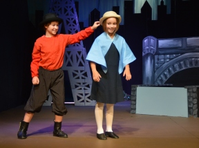 Theatre Bristol's The Adventures of Madeline by Ludwig Bemelmans with Zaiah Gray as Pepito and Charli Carpenter as Madeline. August 26 - September 11