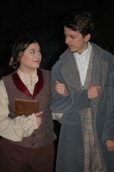 Theatre Bristol's Little Women 2016 Lorrie Anderson as Jo, Anthony Underwood as Mr. Bhaer